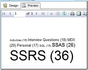 Tag Cloud in SSRS