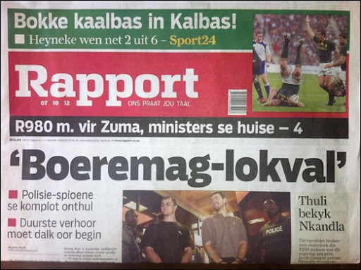 ANC CRIME INTELLIGENCE COPS TRAPPED AFRIKANERS INTO BOEREMAG plots