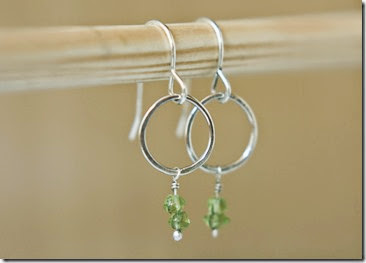 Silver and Peridot Earrings