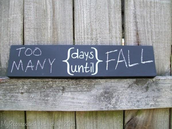 days until chalkboard sign