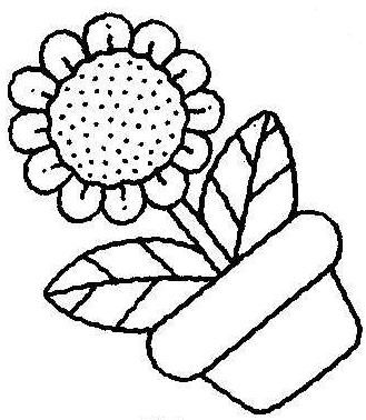 easy flower pot with coloring pages