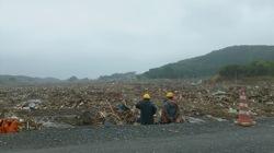 Fields of debris in Iwake