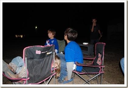 cousins at bonfire