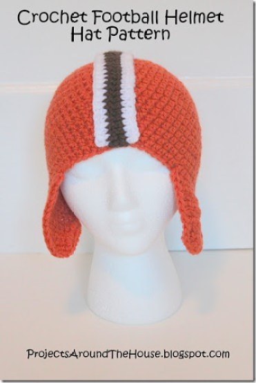 Crochet football helmet hat free pattern Browns