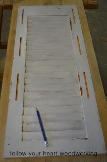 Repurposed Shutter Shelf 7