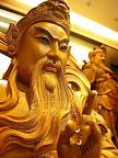 【神明佛像精雕】一尺三頂級梢楠原木-蒼勁有力玄天上帝-開臉點眼挖洞