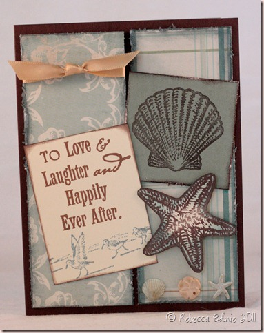winning beach wedding card