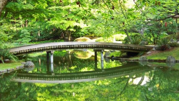 小橋 流水: 校園內的 Nitobe Memorial Garden ( 新渡戶紀念公園)