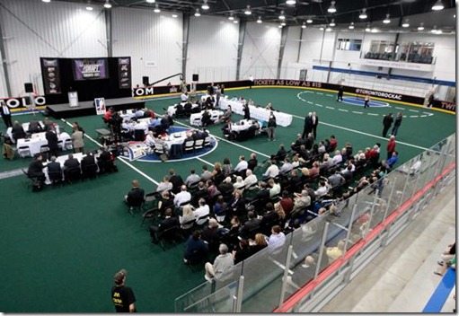 The draft floor (image from NLL.com)