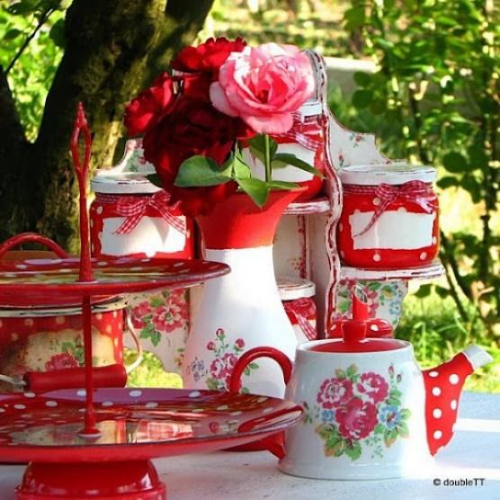 kolekcija polka dots and roses in red - detalji