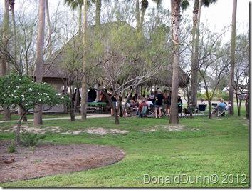 300 Circle palapa party, Bentsen Palm Village RV Resort