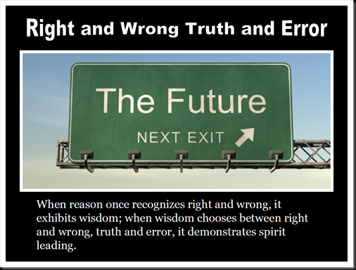 right and wrong truth and error