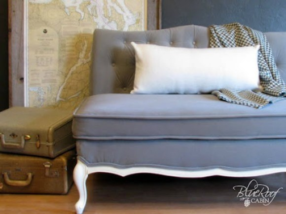 reupholster a button tufted sofa