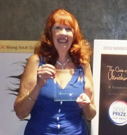 Sandy Receiving Award