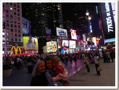 3 girls time square