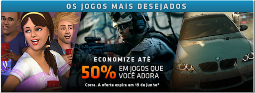 Promoção Origin: Jogos com 50% de desconto