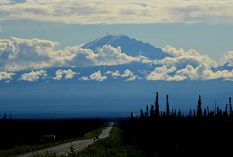 frost heaves on the Glenn Highway west of Mt Drum