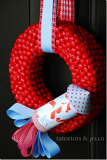 red hot and blue wreath fourth of july wreath