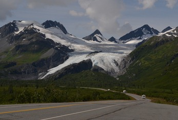Worthington Glacier from the road