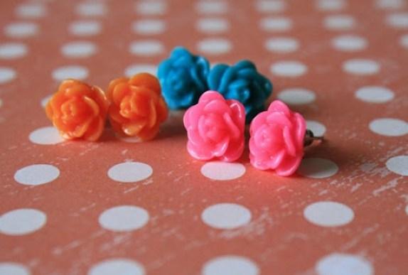 neon earrings