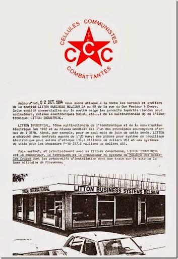 CCC communiqué octobre 1984 page 1