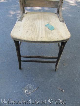 antique pew chair restoration (7)