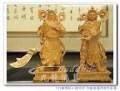 【帥氣豋場】超威護法神尊-伽藍菩薩與韋馱菩薩-八寸八頂級原木精致雕刻~神明佛像木雕藝術@台北板橋