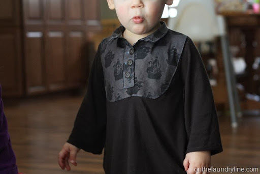 Beatnik Kids sewing pattern Bond Top sewn by www.onthelaundryline.com