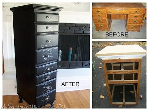 Repurposed Desk to Chest