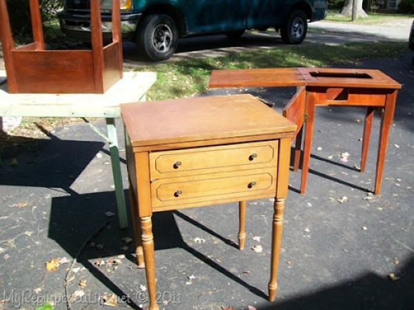 vintage sewing cabinets