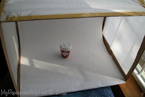 cardboard lightbox