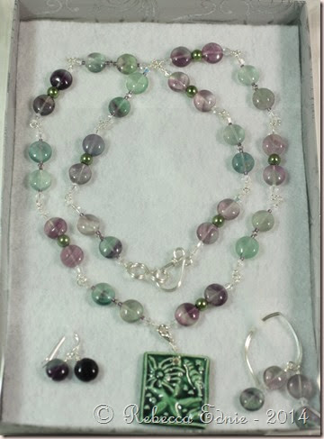ocean blog hop tourmaline necklace