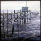 """""""Pontón II"""", Pablo Rubén López Sanz, 2º accésit """"I Concurso de Pintura de Marinas Puerto de Ferrol"""""""