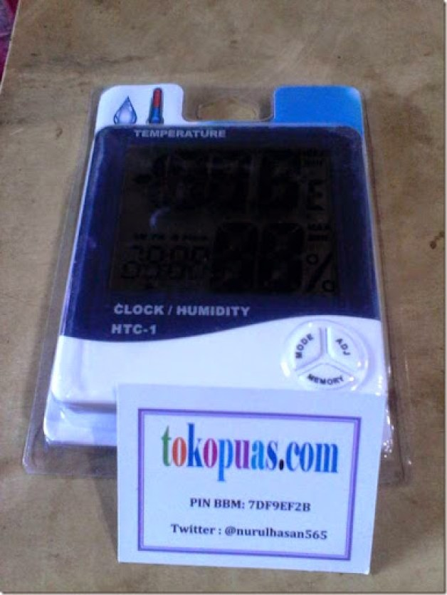 jam termometer hygrometer digital