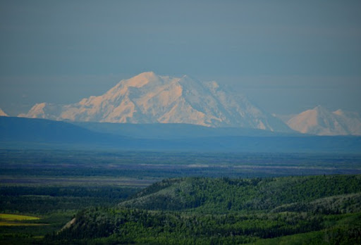 Denali from 100 miles north