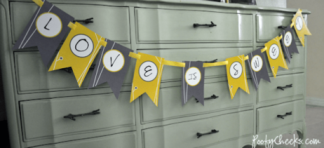 Gray and Yellow Wedding Printables
