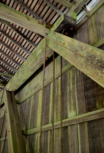 the size of these beams is impressive Deadwood Bridge
