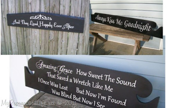 collection of headboard signs
