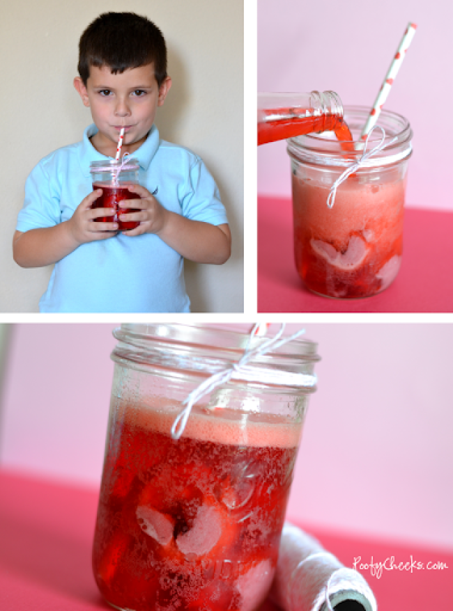 Strawberry 'Crush' Floats for your little crushes on Valentine's Day