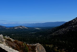 Lake Tahoe from highway 50