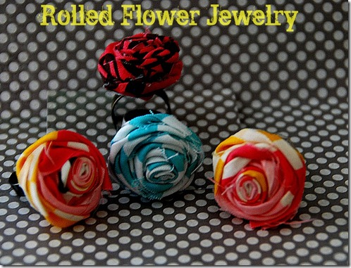 rolled flower jewelry tutorial