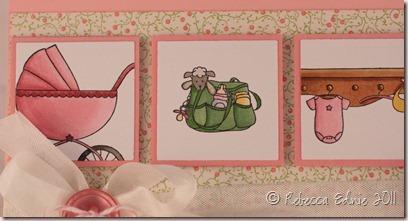 tara baby girl card closeup
