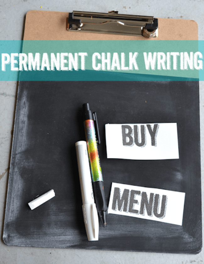Permanent Chalk Writing - How to make permanent writing look just like chalk.