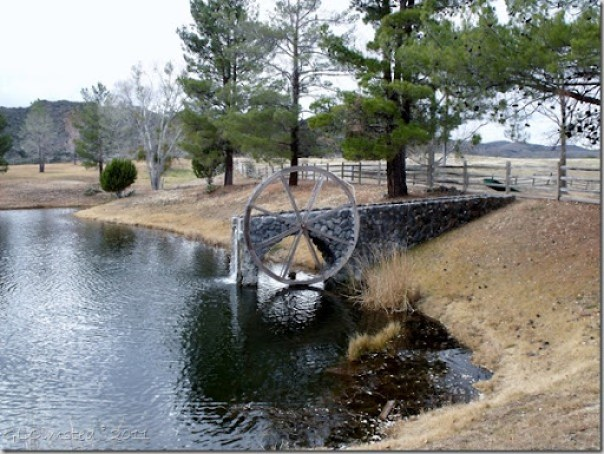 Water wheel between ponds at TK Bar Ranch Wagner Rd Arizona