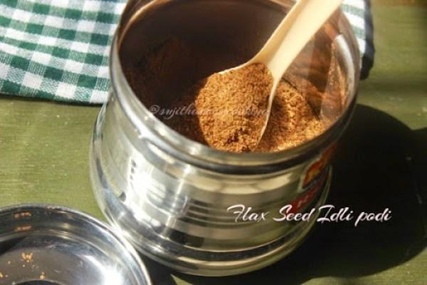 Flax seed Idli podi3
