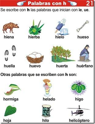 palabras con h ejercicios de primaria