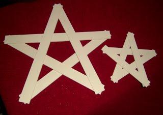 paint stick Primitive stars