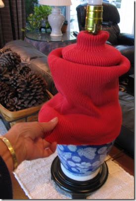 sweater changes a lamp