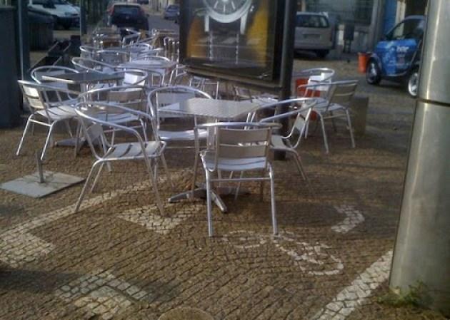 Mau exemplo de como se implementa uma ciclovia, no Porto