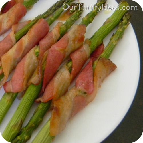 Bacon Wrapped Asparagus - baked 2